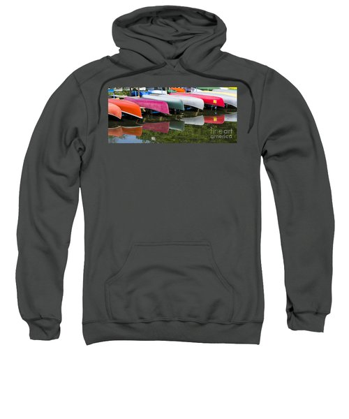 canoes - Lake Wingra - Madison  Sweatshirt