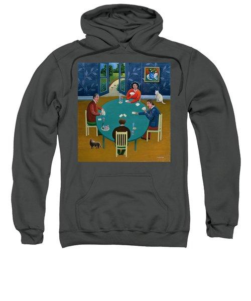 Card Game Oil On Board Sweatshirt