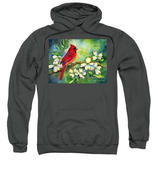 Cardinal On Dogwood Sweatshirt