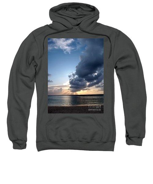 Caribbean Sunset Sweatshirt by Peggy Hughes