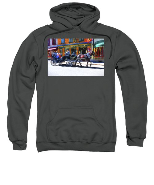 Carriage Rides In Old Quebec 9 Sweatshirt