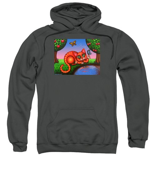Cat In Reflection Sweatshirt
