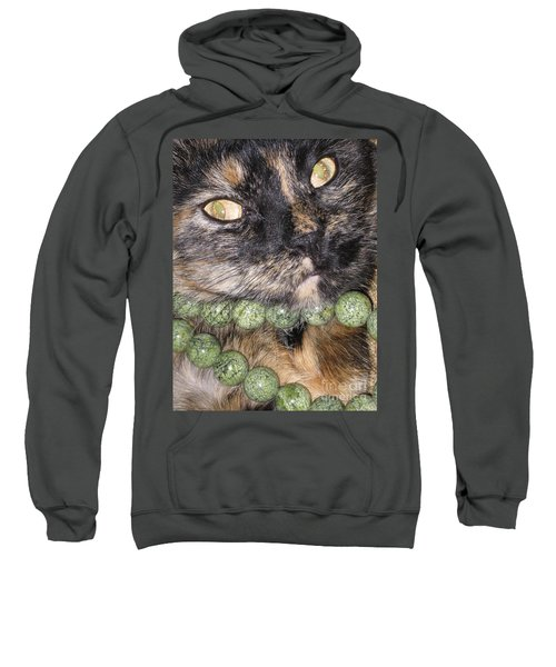 One In A Million... Beauty Of Cat's Eyes. Hello Pearl Collection Sweatshirt