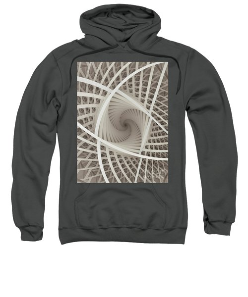 Centered White Spiral-fractal Art Sweatshirt