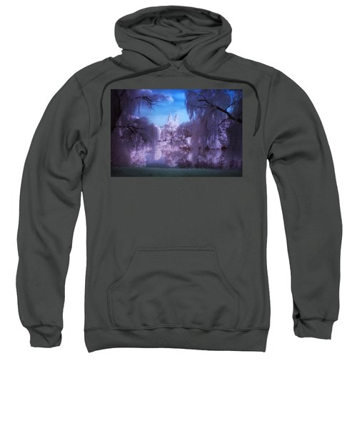 Central Park Lake Willows Color Sweatshirt