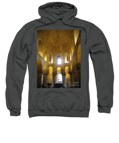 Sweatshirt featuring the photograph Chapel Glow by Denise Railey