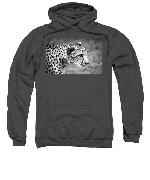 Cheetah Profile Black And White Sweatshirt