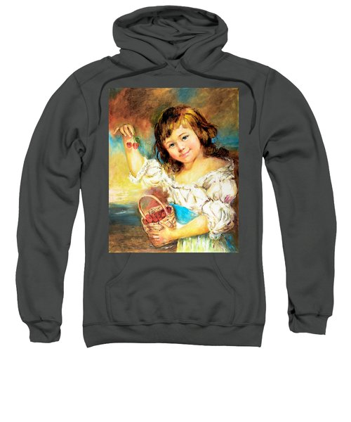 Cherry Basket Girl Sweatshirt