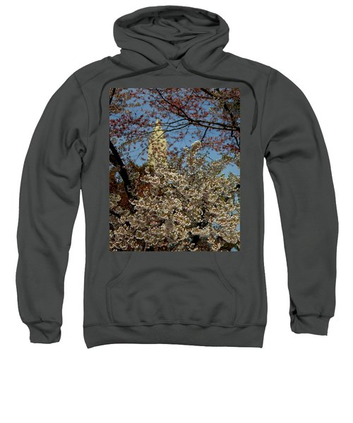 Cherry Blossoms And The Monument Sweatshirt
