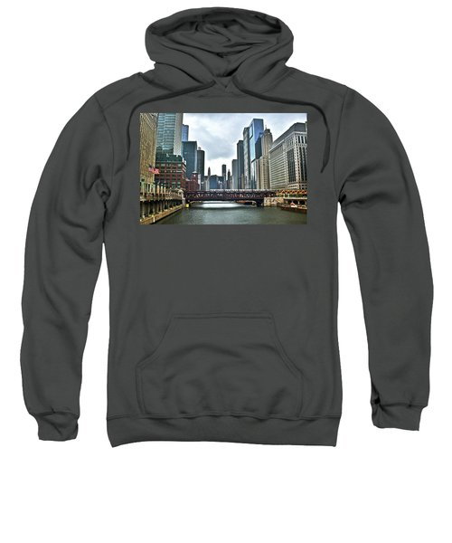 Chicago River And City Sweatshirt