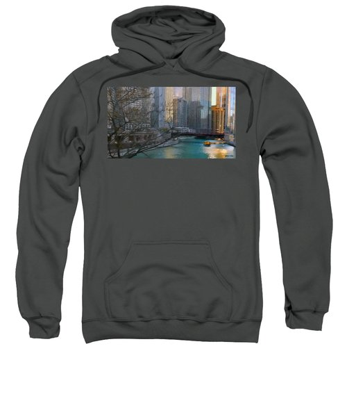 Chicago River Sunset Sweatshirt