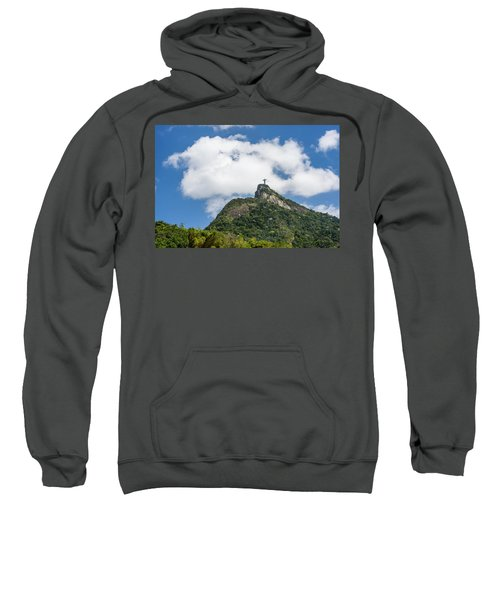 Christ Redeemer On Top Of Morro Sweatshirt