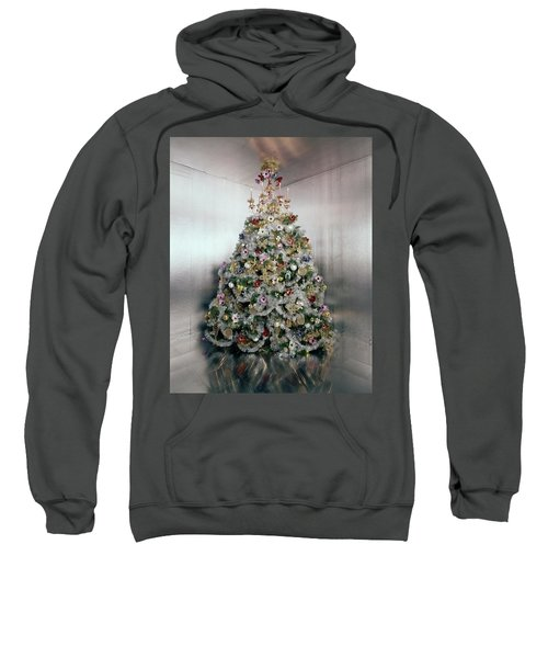 Christmas Tree Decorated By Gloria Vanderbilt Sweatshirt