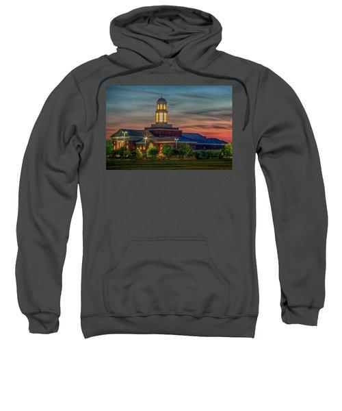 Christopher Newport University Trible Library At Sunset Sweatshirt