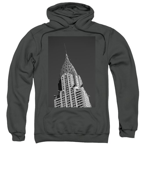 Chrysler Building Bw Sweatshirt