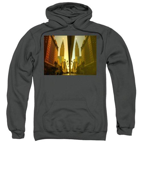 Chrysler Reflection On 42nd Street Sweatshirt