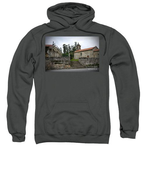 Church And Cemetery In A Small Village In Galicia Sweatshirt