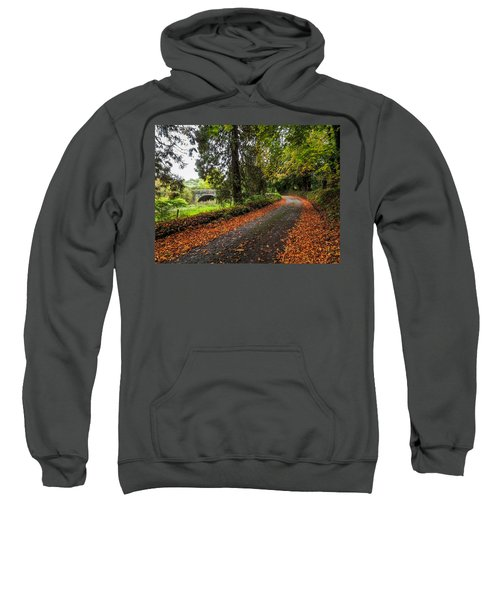 Sweatshirt featuring the photograph Clondegad Country Road by James Truett