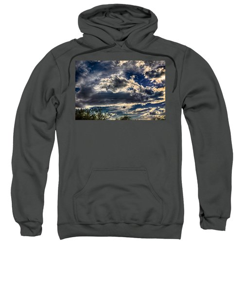 Sweatshirt featuring the photograph Cloud Drama by Mark Myhaver