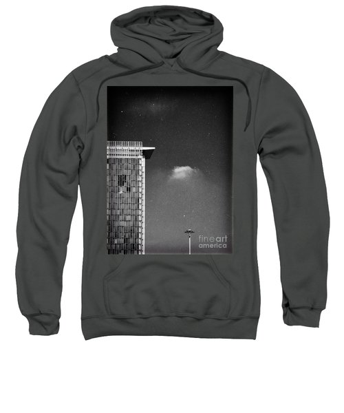 Sweatshirt featuring the photograph Cloud Lamp Building by Silvia Ganora