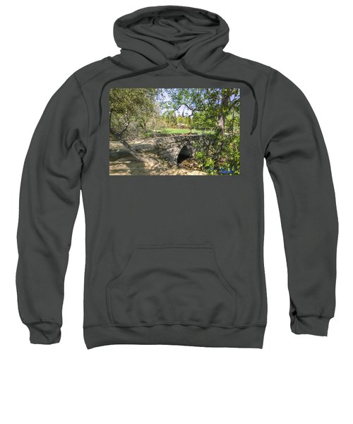 Sweatshirt featuring the photograph Clover Valley Park Bridge by Jim Thompson