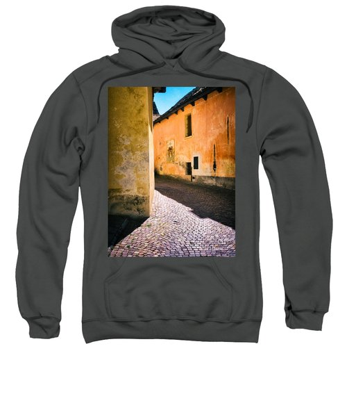 Sweatshirt featuring the photograph Cobbled Street by Silvia Ganora