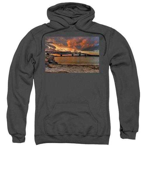 Coleman Bridge At Sunset Sweatshirt