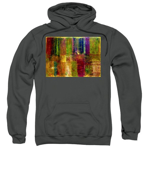 Color Panel Abstract Sweatshirt
