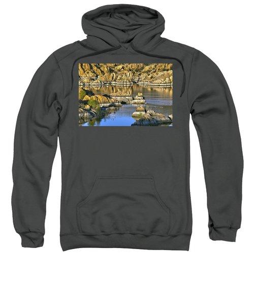 Colors In The Rocks At Watsons Lake Arizona Sweatshirt
