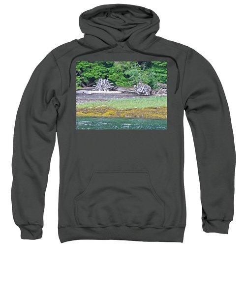 Colors Of Alaska - Layers Of Greens Sweatshirt
