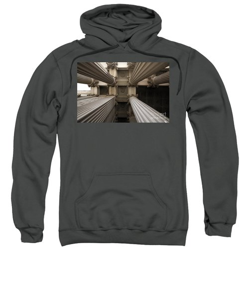 Columns At The National Archives In Washington Dc Sweatshirt