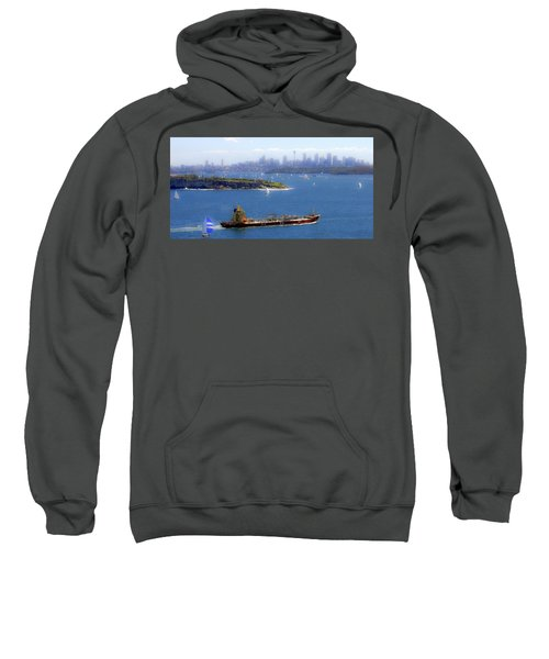 Sweatshirt featuring the photograph Coming In by Miroslava Jurcik