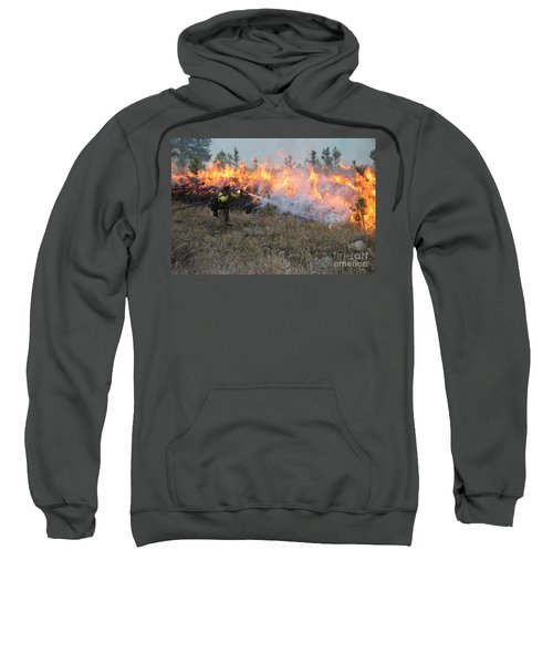 Cooling Down The Norbeck Prescribed Fire. Sweatshirt
