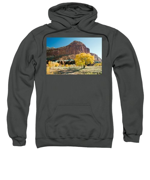 Cottonwoods In Fall The Castlecapitol Reef National Park Sweatshirt