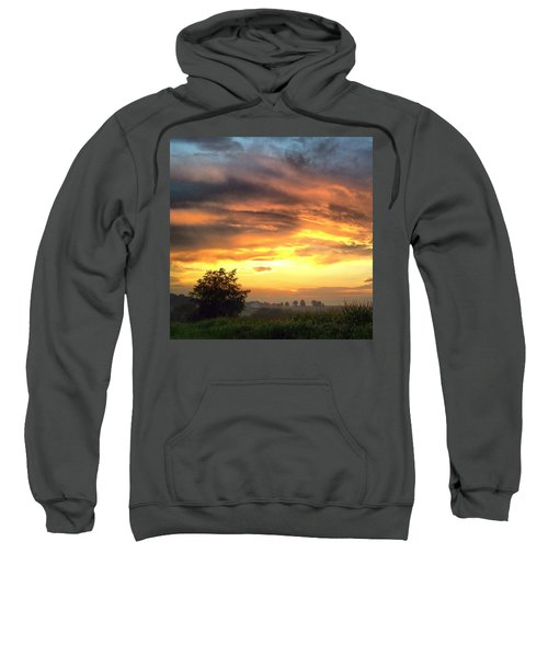 Country Scene From Hilltop To Hilltop Sweatshirt