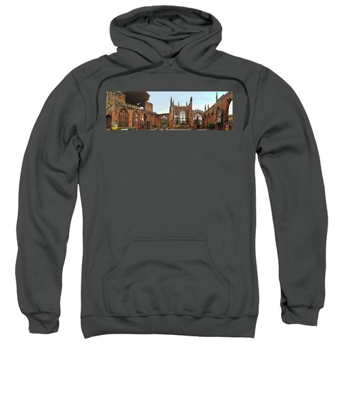 Coventry Cathedral Ruins Panorama Sweatshirt