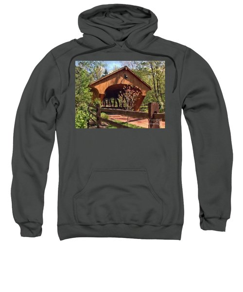 Covered Bridge At Olmsted Falls-spring Sweatshirt