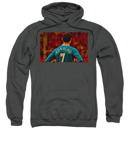 Cristiano Ronaldo Poster Art Sweatshirt