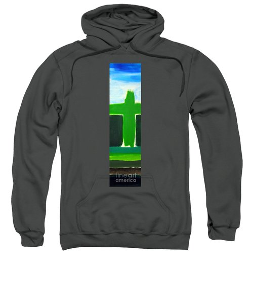 Green Cross On Hill Sweatshirt