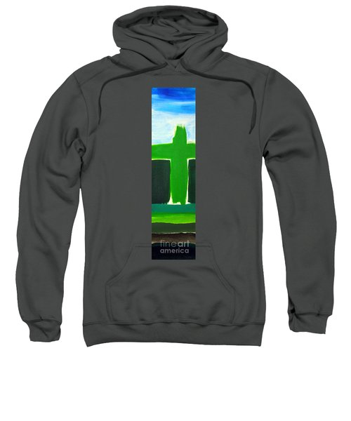 Green Cross On Hill Sweatshirt