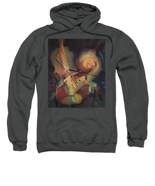 Cubist Play - Abstract Cello Sweatshirt