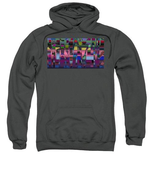 Sweatshirt featuring the digital art Curves And Trapezoids  by Judi Suni Hall