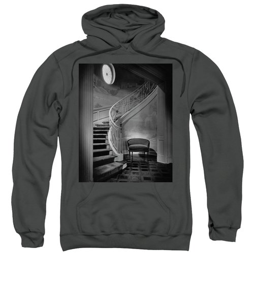 Curving Staircase In The Home Of  W. E. Sheppard Sweatshirt