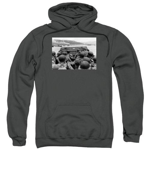 D-day Soldiers In A Higgins Boat  Sweatshirt