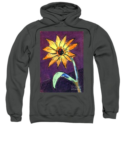 Daisy On Dark Background Sweatshirt