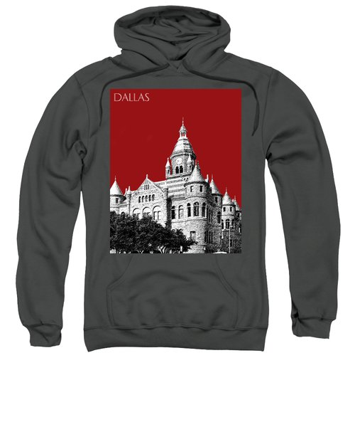 Dallas Skyline Old Red Courthouse - Dark Red Sweatshirt