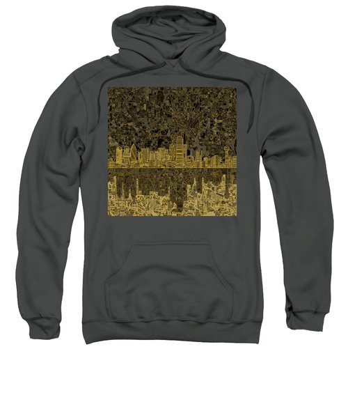 Dallas Skyline Abstract 3 Sweatshirt