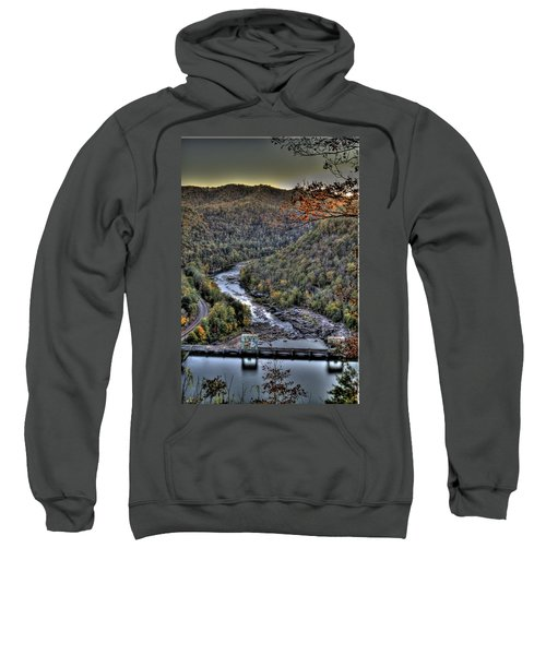 Sweatshirt featuring the photograph Dam In The Forest by Jonny D