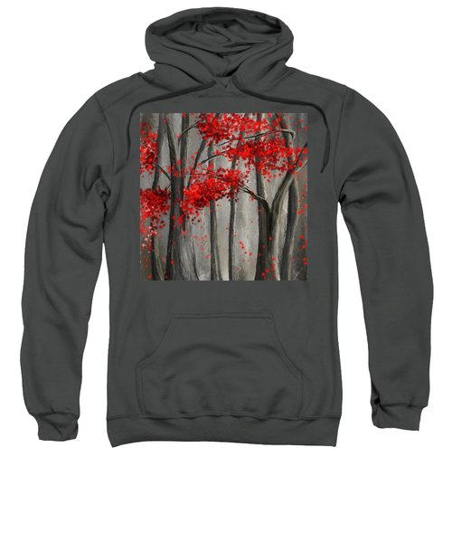 Dark Passion- Red And Gray Art Sweatshirt