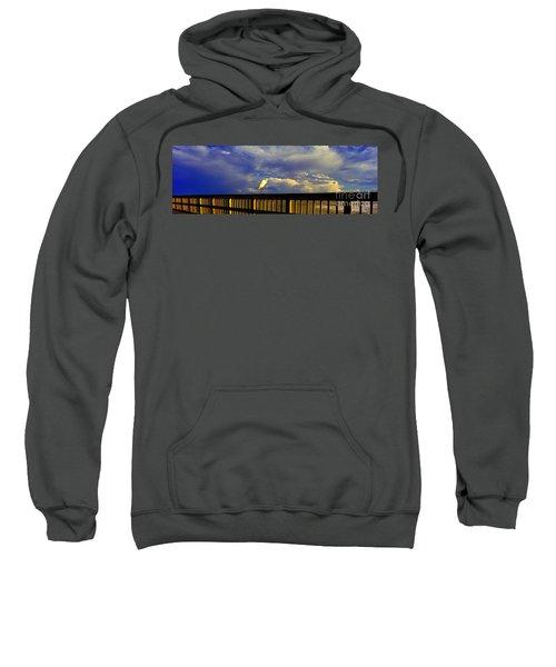 Daytona Beach Rail Bird Sun Glow Pier  Sweatshirt